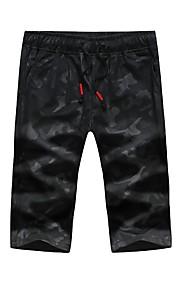 男性用 活発的 / ベーシック スウェットパンツ / ショーツ パンツ - プリント ブラック