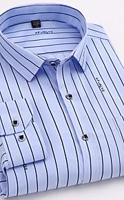 男性用 シャツ レギュラーカラー ストライプ