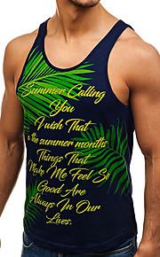 Ανδρικά Αμάνικη Μπλούζα Φλοράλ Στάμπα