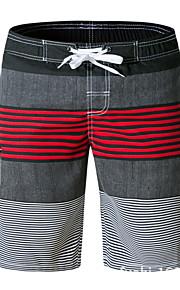 男性用 EU / USサイズ ブルー グリーン ルビーレッド スイミングトランクス ボトムス スイムウェア - ストライプ L XL XXL ブルー