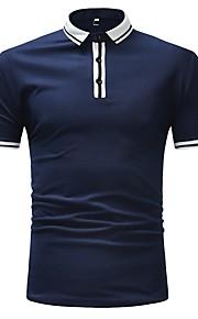 メンズeu / usサイズポロ - カラーブロックシャツカラー