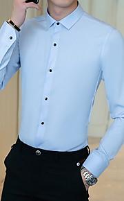 男性用 シャツ レギュラーカラー スリム ソリッド