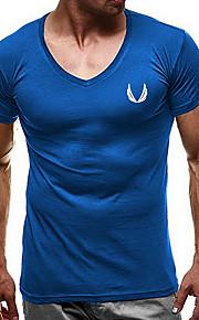 Camiseta de algodón para hombre con estampado gráfico y cuello.