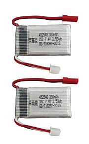 MJX X401H X402 7.4V 350mAh 2pcs batteri