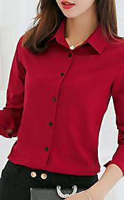Skjorte Dame - Ensfarget Lysegrønn L