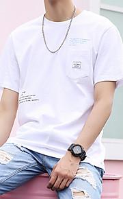 T-skjorte Herre - Bokstaver Hvit XL