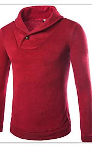 Муж. Пуловер Красный / Темно синий / Серый XL / XXL / XXXL
