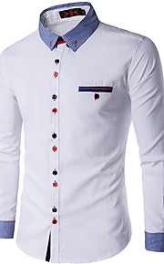 Heren Overhemd Kleurenblok Rood XXXL