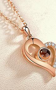Dámské Průsvitné Náhrdelník umělecké Půvab Stříbrná Růžové zlato 41.3 cm Náhrdelníky Šperky 1ks Pro Denní