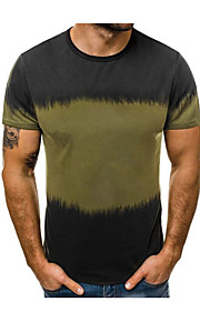 Ανδρικά T-shirt Συνδυασμός Χρωμάτων Πράσινο του τριφυλλιού XL