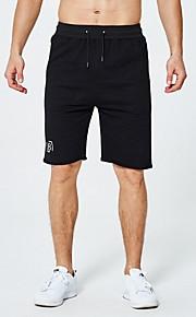 Hombre Deportivo Shorts Pantalones - Un Color Negro