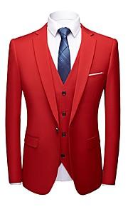 Hombre trajes Solapa Redonda Poliéster Gris / Morado / Amarillo XXXL / XXXXL / XXXXXL