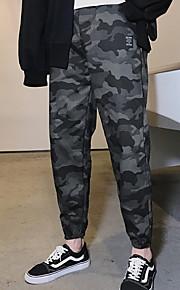 בגדי ריקוד גברים בסיסי צ'ינו מכנסיים תבנית גאומטרית