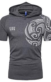 T-skjorte Herre - Grafisk, Trykt mønster Mørkegrå XL
