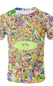 camiseta delgada de los hombres - cuello redondo del arco iris