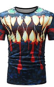 Hombre Camiseta Gráfico Azul Piscina XL