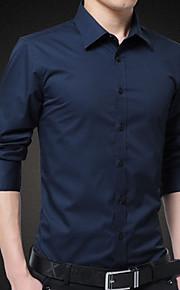 Муж. Рубашка Однотонный Черный XXXL
