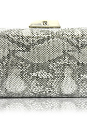 10ae6635f3 Γυναικεία Τσάντες Συνθετικός Βραδινή τσάντα Σχέδιο   Στάμπα   Αλυσίδα  Συμπαγές Χρώμα Ασημί   Ανθισμένο Ροζ