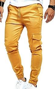 Hombre Básico Pantalones Harén Pantalones - Un Color Beige