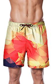 Herre Sporty / Basale Chinos / Shorts Bukser - Tropisk / Geometrisk mønster Rød