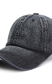 Unisex Party Aktivní Základní Kšiltovka Sluneční klobouk-Jednobarevné Barevné bloky Bavlna Celý rok Vodní modrá Černá Světle modrá