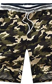 Hombre Militar Shorts Pantalones - Estampado Marrón