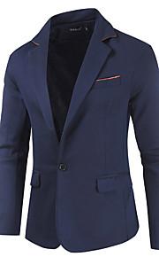 Herrn Blazer Gekerbtes Revers Polyester Rote / Dunkelgray / Marineblau L / XL / XXL