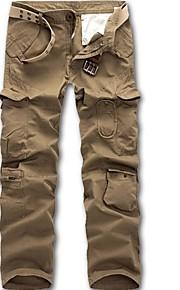 Hombre Básico Chinos Pantalones - Un Color Verde Claro