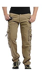 Hombre Básico Chinos Pantalones - Un Color Gris Oscuro