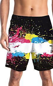 Herre Sporty / Basale Chinos / Shorts Bukser - Trykt mønster / Multi Farve Sort