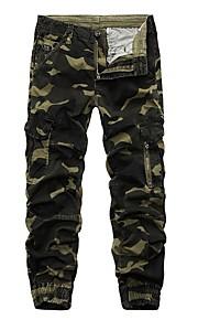 Hombre Militar Chinos Pantalones - Estampado Azul Piscina