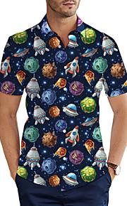 Skjorte Herre - 3D Grunnleggende Navyblå XXL