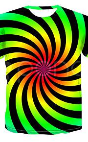 Муж. Футболка Классический Контрастных цветов Зеленый US42