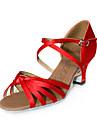 femmes en satin supérieure chaussures danse de salon des chaussures latines de plusieurs couleurs