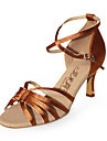 satin superioare Latin Dance pantofi sală de bal de practică pantofi cu toc pentru femei
