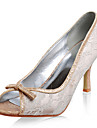 top dantelă / flash pulbere superioare stilet toc peep toe pantofi de moda de calitate