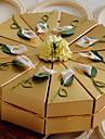 Piramidă Hârtie perlă Favor Holder Cu Flori Cutii de Savoare