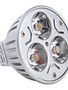 3000lm GU5.3(MR16) LED-spotlights MR16 3 LED-pärlor Högeffekts-LED Varmvit 12V
