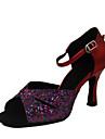mousserande glitter / konstläder övre kvinnor dans skor ballroom latin skor fler färger