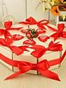 tort în formă de cutie favoare cu roșu rinbbon (set de 10)