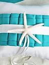 plaja tematice perna albastru inel de nunta cu ceremonia de nunta starfish