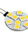 1W G4 LED-lampor med G-sockel 9 lysdioder SMD 5050 Varmvit 250-300lm 3000K DC 12V
