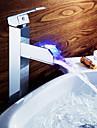 Sprinkle® Robinete Chiuvetă  ,  Blat  with  Crom Mâner unic O gaură  ,  Caracteristică  for LED / Robinet Central