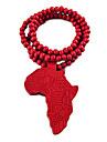 Harta Africa de model colier din lemn