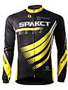 SPAKCT Homme Maillot de Cyclisme Velo Maillot / Hauts / Top Sechage rapide, Resistant aux ultraviolets, Respirable Rayure Tenues de