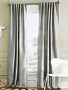 Stångficka Hyls-topp Hällor topp Dubbel veckad Två paneler Fönster Behandling Moderna Enfärgad 100% Polyester Polyester Material gardiner