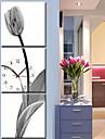 e-home 3pcs stil contemporan botanic panza de perete ceas decoratiuni acasă