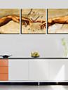 Ceas de perete moderne retro în pânză 3pcs