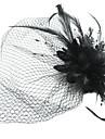 Women's Satin / Feather / Tulle Headpiece - Special Occasion Fascinators / Birdcage Veils 1 Piece