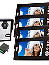 KONX® Wireless Night Vision Camera with 7 Inch Door Phone Monitor (1camera 4 monitors)